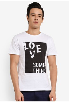 【ZALORA】 Love Something Printed T卹