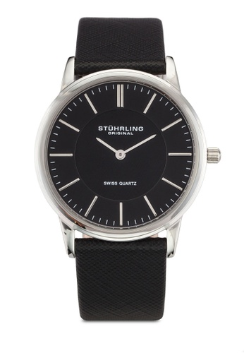 Stuhrling Original black Black Dial Leather Watch ST251AC0RFIOMY_1