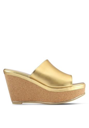 VINCCI gold Slip On Wedges VI831SH0RZLKMY_1