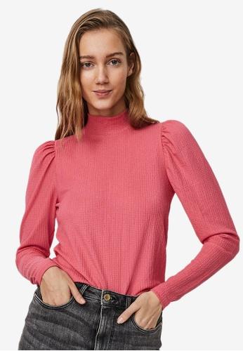 Vero Moda pink Sie Long Sleeve High Neck Top 41801AAA93665AGS_1