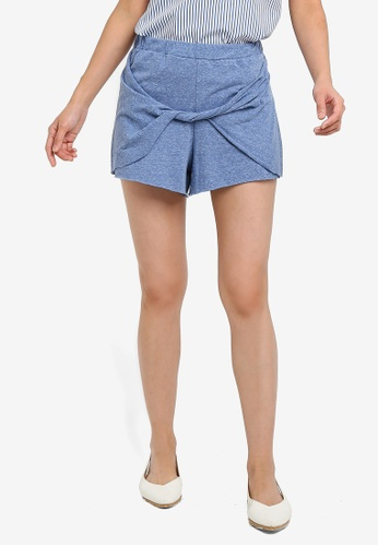 Brave Soul blue Shorts With Twisted Front E525BAAD8FF367GS_1