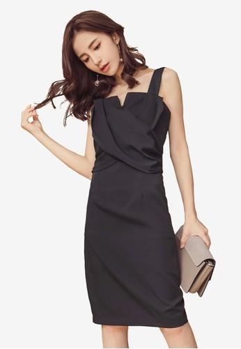 Kodz black Sleeveless Pencil Dress 20C45AA89D1743GS_1