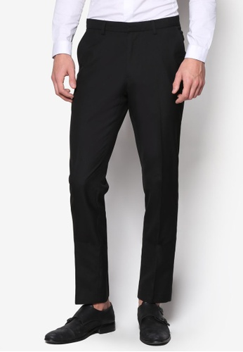 Burton Menswear London black Black Skinny Fit Formal Trousers BU964AA22IABMY_1