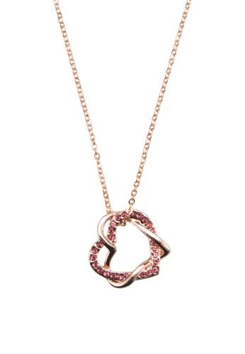 雙心吊飾項鍊, 飾品配件, 飾品zalora taiwan 時尚購物網鞋子配件