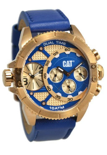 Caterpillar blue CAT Jam Tangan Pria Biru Gold Leather Strap DV19936639  CA116AC32DWTID 1 c6af399687
