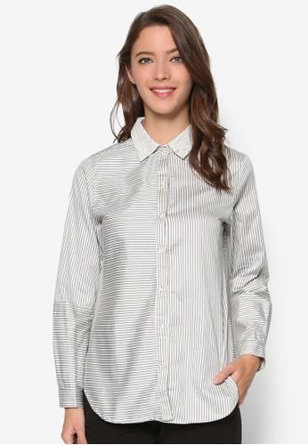 細條紋長袖襯衫, 服飾,esprit outlet尖沙咀 女性服飾