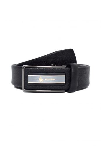 POLOVENZI black POLOVENZI Mix Leather Men Belt 76097ACA2A4C98GS_1