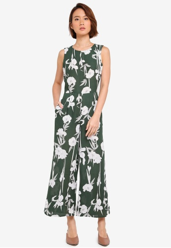 WAREHOUSE green Int Tiger Lily Culotte Jsuit 7C80AAA9279BE2GS_1