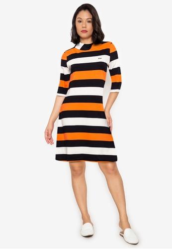 Le Tigre orange Striped Dress 264BDAAA861ED9GS_1