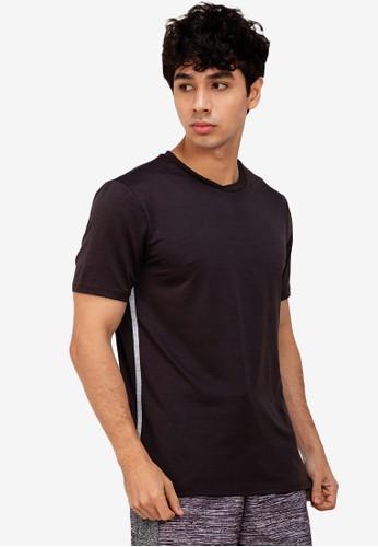ZALORA ACTIVE multi Contrast Side Trim Split Hem T-Shirt 081F0AA9478886GS_1