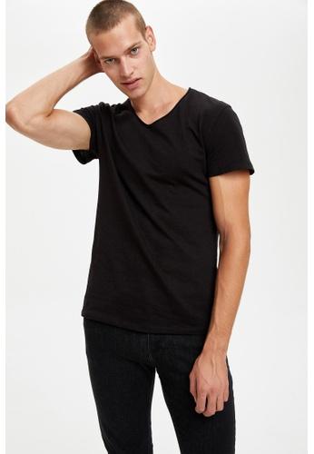 DeFacto black Man Knitted T-Shirt 51395AA822BCB1GS_1