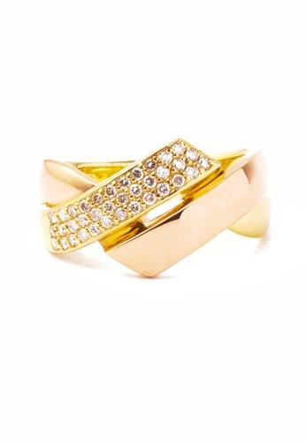 CEBUANA LHUILLIER JEWELRY gold 18 Karat Yellow Gold Lady Ring With Diamonds C289DAC159B2C9GS_1