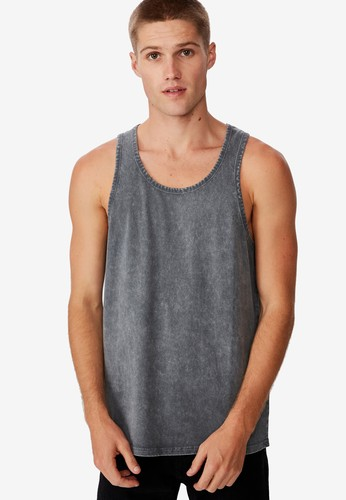 Cotton On grey Vacation Tank Top C9311AA93EF111GS_1