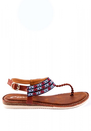 cce2f92b6390 Shop Otto Braided T-bar Sandals Online on ZALORA Philippines