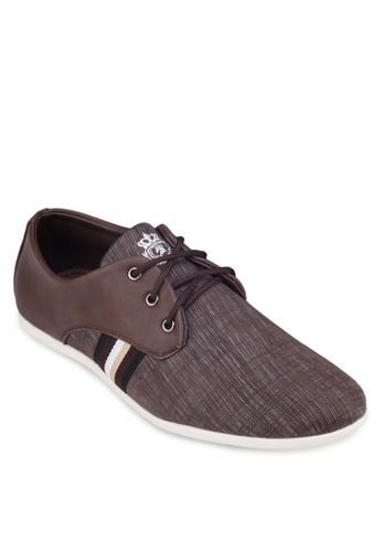 暗紋條紋拼接運動esprit分店鞋, 鞋, 休閒鞋