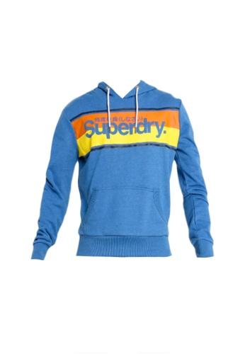 SUPERDRY blue Core Stripe Hoodie 7EA0FAA74AE902GS_1
