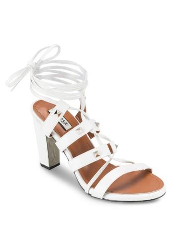 鉚釘繫帶粗跟鞋, 女鞋,esprit 手錶 細帶高跟鞋