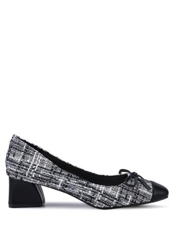 Kimmijim 黑色 Steffie Square Toe Block Heels 24D05SH61B637BGS_1