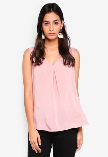 Vero Moda pink Eva Sleeveless Top 4D73CAA5832D48GS_1