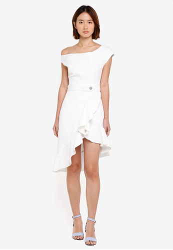 Haute Kelly white Ho-Sook Ruffle Hem Dress CEFDEAAC3907E2GS_1