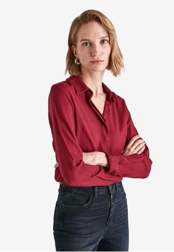 Trendyol red Basic Long Sleeves Shirt DFB1BAAF259120GS_1