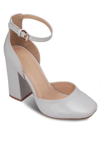 漆面方頭側空高跟zalora鞋鞋, 女鞋, 細帶高跟鞋