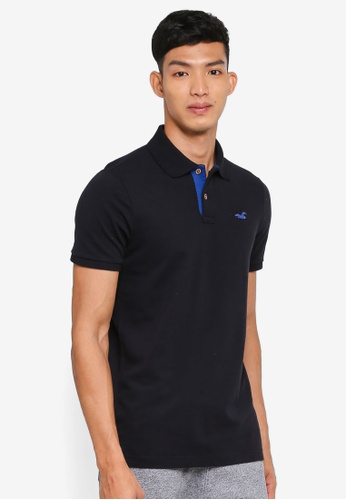 Hollister black Pop Icon Solid Polo Shirt 8493DAABB367CDGS_1
