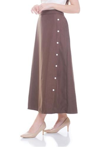 JOYFULIE brown Mytha Skirt Dark Brown 15F25AAD7B3121GS_1