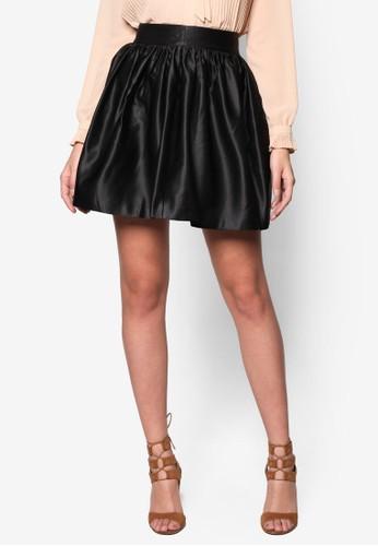 綢緞傘擺短zalora 折扣碼裙, 服飾, 裙子