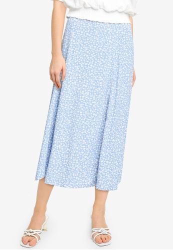 Forever New blue Ellie Split Midi Skirt AC923AA93F28BEGS_1