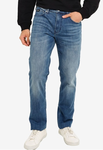 Calvin Klein blue Straight Fit Jeans - CK Jeans BEFD4AAC4A84EFGS_1