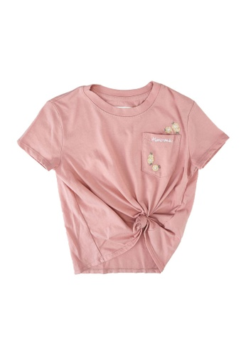 Abercrombie & Fitch pink Knot Front Pocket Embroidered Moost Have Top 2D254KABE892C5GS_1