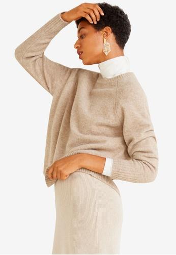 Mango brown Wool-Blend Knit Sweater 7F0EAAA7446C32GS_1
