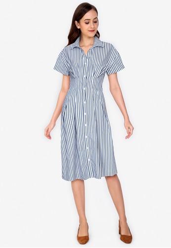ZALORA WORK multi Midi Shirt Dress 70108AAEF6D2C2GS_1