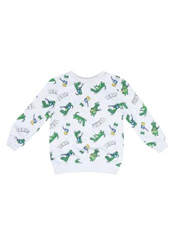 LC Waikiki grey Boy's Printed Sweatshirt 15B88KAB9BD340GS_1