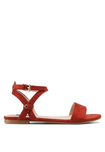 ZALORA brown Strappy Sandals F0B06SH430001BGS_1