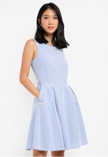 ESPRIT blue Light Woven Midi Dress E82B2AA32B1D94GS_1