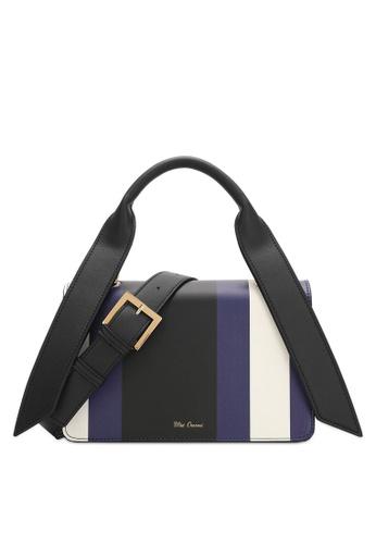 Wild Channel blue and multi Color Block Top Handle Bag 6D3D1AC9339E07GS_1