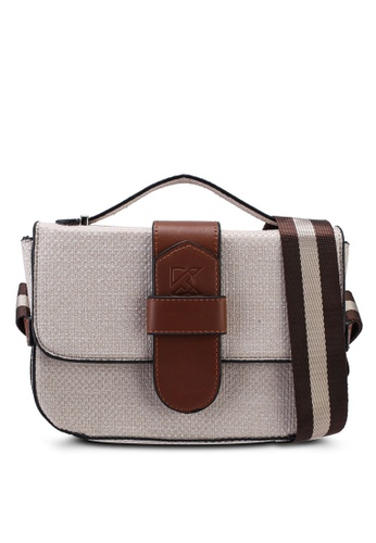 Keddo brown and beige Mia Slingbag 6128BACE0A6820GS_1