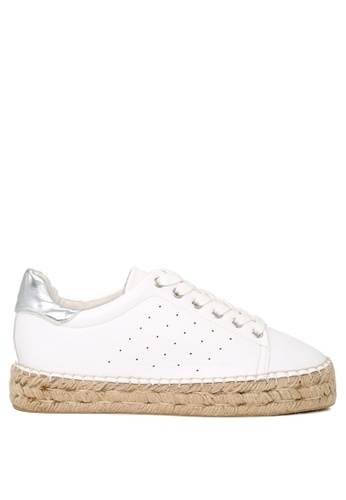 London Rag 白色 London Rag女士系帶花邊運動鞋 SH1041 9CD22SHB435B9CGS_1