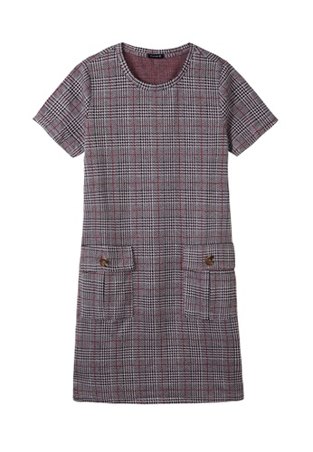Cheetah grey C Union Casual Short Sleeves Dress - CUL-19250-C1 895F9AA19F7EA0GS_1