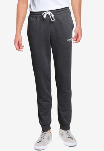 JACK & JONES grey Hexa Sweat Pants 8C6DBAAD8ED4BBGS_1