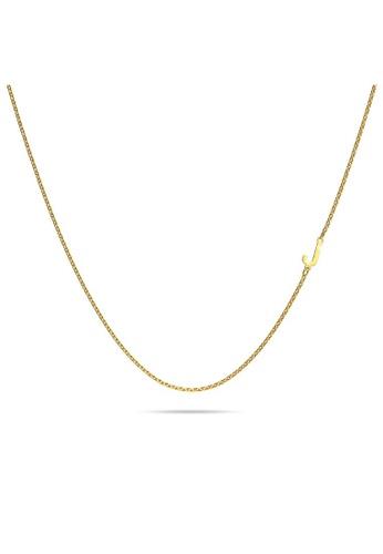 Bullion Gold gold BULLION GOLD Bold Alphabet Letter Initial Charm Necklace in Gold Tone - J FFD95AC21632B5GS_1