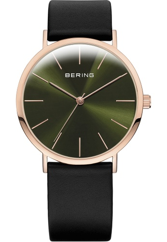 Bering black and gold Bering Classic Green 36 mm Men's Watch (13436-469) EF56EACF846DB2GS_1