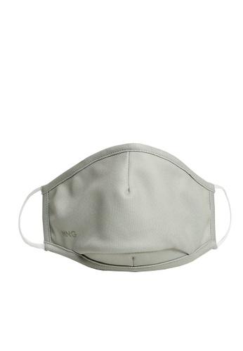 Mango grey Reusable Homologated Facemask 32E25ESE5091F6GS_1