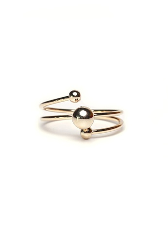 Gung Jewellery gold Barbell Ring in Gold EEFB2AC2ECADCCGS_1