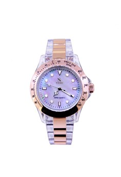 Lady sk3018rgwh Plastic Fashion Watch