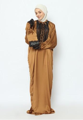 Magic Spell brown Afrin Abaya Prayer Set MSA331 69D9CAA07468DBGS_1