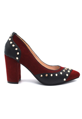 Toufie red Krait 80 High Heel Snake And Leather - Red 5AFF9SH19E447FGS_1
