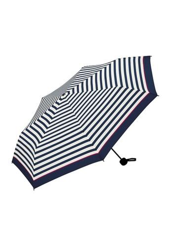 WPC blue WPC Unisex Basic Folding Umbrella (Pink Line Border Mini) 85A45AC57E61B5GS_1